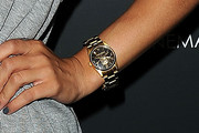 Jessica Szohr Gold Quartz Watch
