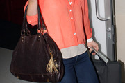 Julia Stiles Leather Tote