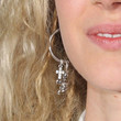 Juno Temple Sterling Dangle Earrings