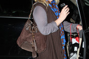 Kathy Hilton Tasseled Hobo Bag