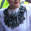 Kelly Osbourne Silver Statement Necklace