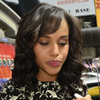 Kerry Washington Medium Curls with Bangs