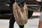 Khloe Kardashian Studded Hobo Bag