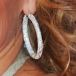Kim Cattrall Diamond Hoops