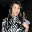 Kourtney Kardashian Long Side Part