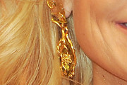 Kristin Chenoweth Gold Chandelier Earrings