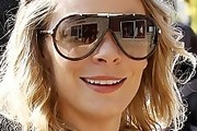 LeAnn Rimes Athletic Shield Sunglasses