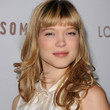 Lea Seydoux Medium Curls with Bangs