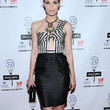 Leslie Bibb One Shoulder Dress