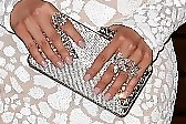 Christina Aguilera Beaded Clutch