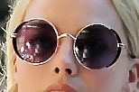 Margot Robbie Modern Sunglasses