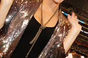 Maria Menounos Gold Lariat Necklace