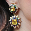 Marisa Tomei Dangling Gemstone Earrings