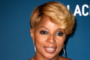 Mary J. Blige Short cut with bangs