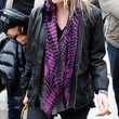 Mary-Kate Olsen Patterned Scarf