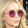Mary-Kate Olsen Round Sunglasses