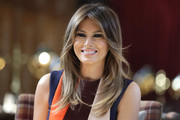 Melania Trump Long Hairstyles