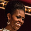 Michelle Obama Bobby Pinned updo