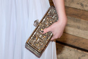 Michelle Trachtenberg Gemstone Inlaid Clutch