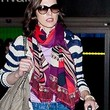 Milla Jovovich Patterned Scarf