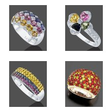 Multicolored Gemstone Rings