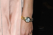 Natalia Vodianova Gold Bracelet Watch