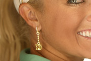 Natalie Gulbis Dangling Diamond Earrings