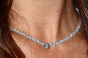 Natalie Imbruglia Diamond Tennis Necklace