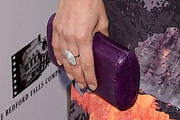 Aubrey Plaza Leather Clutch