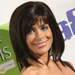 Paula Abdul Hair - Medium Straight Cut with Bangs