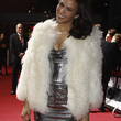 Paula Patton Clothes - Fur Coat