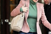 Penelope Cruz Suede Shoulder Bag
