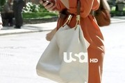 Piper Perabo Leather Tote