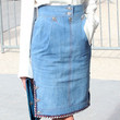 Poppy Delevingne Clothes - Denim Skirt