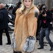 Poppy Delevingne Clothes - Fur Coat