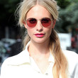 Poppy Delevingne Hair - Half Up Half Down