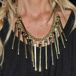 Rachel Zoe Gold Statement Necklace