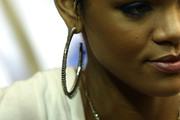 Rihanna Diamond Hoops
