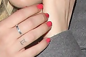 Riley Keough Bright Nail Polish