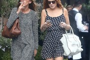 Lindsay Lohan Print Dress