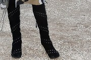Naomi Campbell Studded Boots