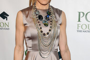 Sarah Jessica Parker Layered Chainlink Necklaces