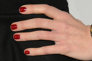 Sarah Rafferty Red Nail Polish