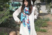 Selma Blair Patterned Scarf