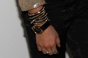 Shenae Grimes Leather Band Quartz Watch