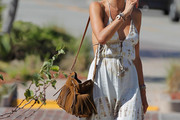 Alessandra Ambrosio Suede Shoulder Bag