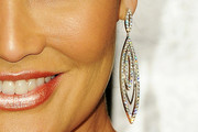 Tia Carrere Dangling Diamond Earrings
