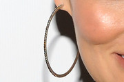 Tia Carrere Diamond Hoops
