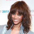 Tyra Banks Hair - Medium Curls with Bangs