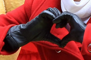 Victoria Justice Leather Gloves
